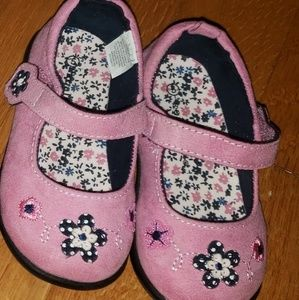 NEW - Toddler Girl Pink Suede Shoes - size 5